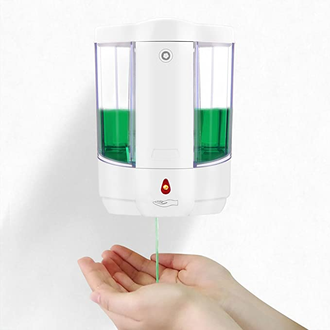 ALLOMN Touchless Hand Sanitizer Dispenser, Automatic Wall-Mounted Liquid  Infrared Soap Dispenser Battery Operated for Kitchen Countertop Bathroom,