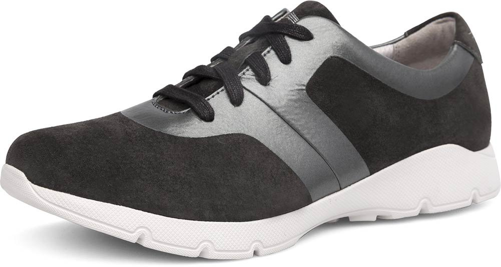Dansko Womens Andi Sneaker B072WJ5XQZ 41 M EU / 10.5-11 B(M) US|Charcoal Pewter Suede Leather