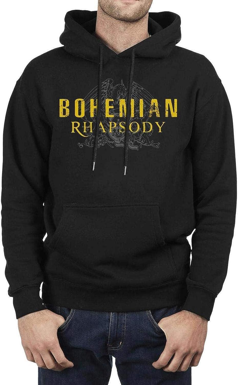 FAJDLD Queen Band Hoodies for Men Winter Fleece Hooded Sweatshirt Pullover Hoodie Sweatshirt