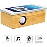 Wireless Touch Speaker - Compatible With All devices That Has An External Speaker Wooden Mini Portable Wireless Speaker Portable Touch Speaker Sound Amplifier for iPhone Android