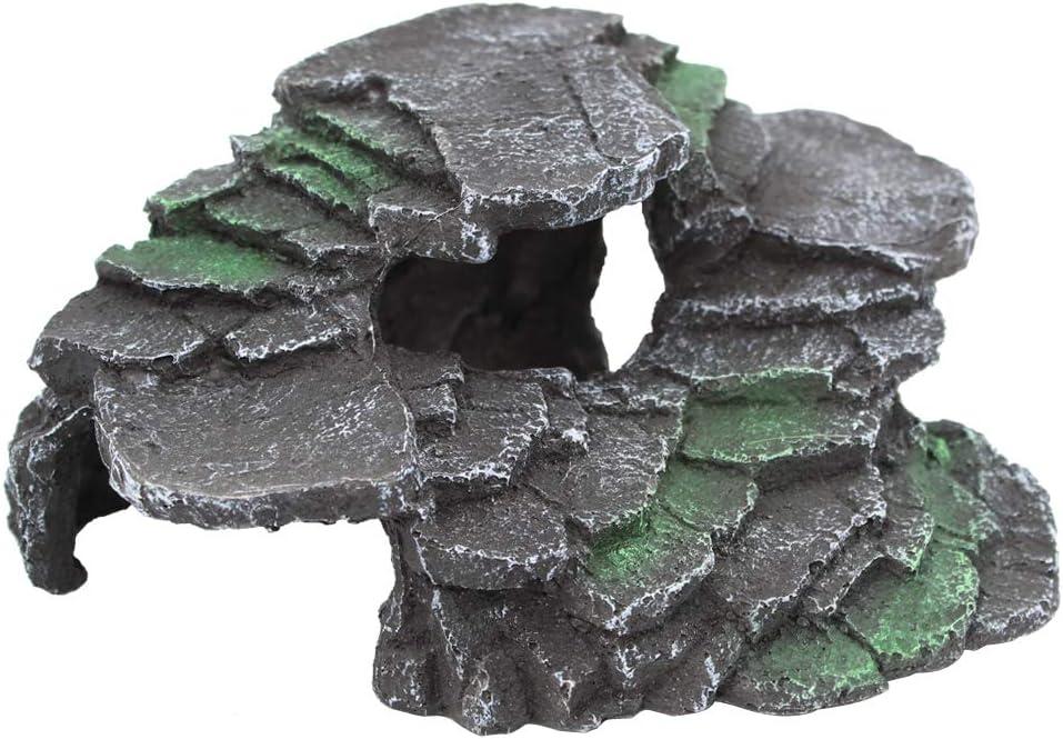 Sempiyi Reptile Pet Caves,Aquarium Cave,Aquarium Landscaping,A