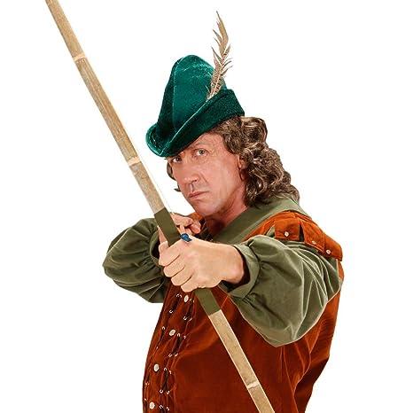 NET TOYS Cappello Robin Hood per travestimenti copricapo medievale berretto  verde da arciere cappuccio stile Medioevo 892acd7d5aa1