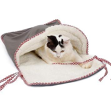 Mlec tech Saco de Dormir Suave y Cómodo para Perros y Gatos Cálida Casa para Jugando, Cama Anti-frío para Mascotas14.96x27.56in: Amazon.es: Productos para ...