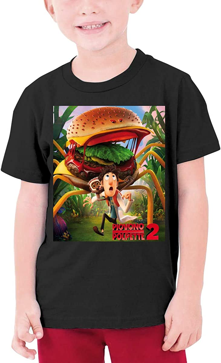 Rjmyys Personalized Cloudy with A Chance of Meatballs Funny Tshirts Short Sleeve for Teenagers Black