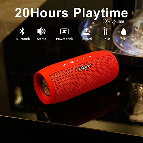 Zealot Portable Bluetooth Speakers 20W S16 MusicUnicorn Wirless Speakers Loud Stereo Sound Handfree Calling External Charger 4000mAh Battery Compatible