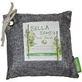 Bella Bambu Activated Bamboo Charcoal Bag - 100% Natural Air Freshener, Purifier, Deodorizer, and Odor Absorber for the home, office, car, and more. 250 grams (purifies up to 100 square feet) Gray