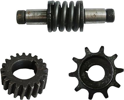 jrl embrague eje & Push Bike Gear & Drive Piñón para 66 cc 80 cc ...