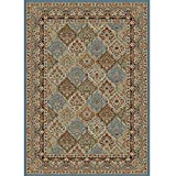 Cheap Rug Empire HT7946 5X8 Panel Kerman Cloud Area Rug, Blue