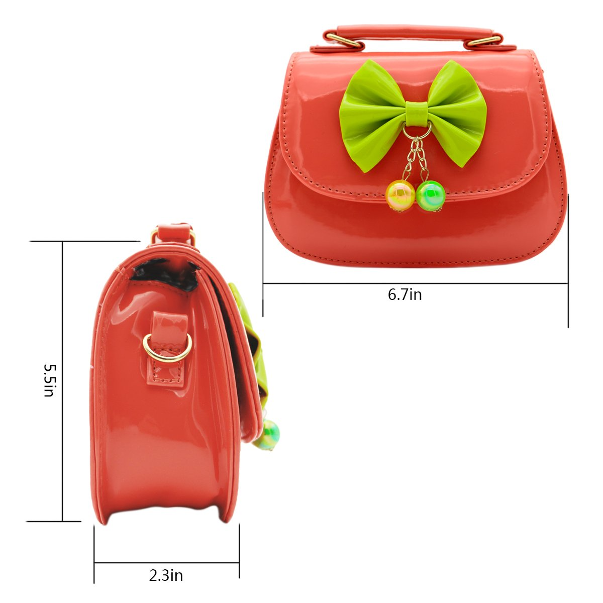 4f4f40fab19a Scheppend Fashion Little Girls Handbag Children Single-shoulder Bag Dual-purpose  Bag (Rosy rivet) [1541756740-6294] - £11.39