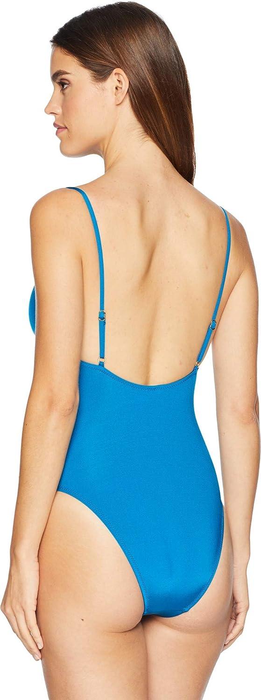 e5e192717f407 Trina Turk Womens High Leg Tie Front One Piece Swimsuit TT9HB10 ...