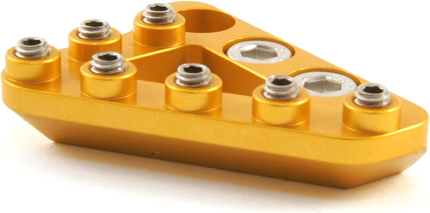 Standard Gold Hammerhead Replacement Rear Brake Pedal Tip also compatible with select OEM Beta Husqvarna /& KTM pedals