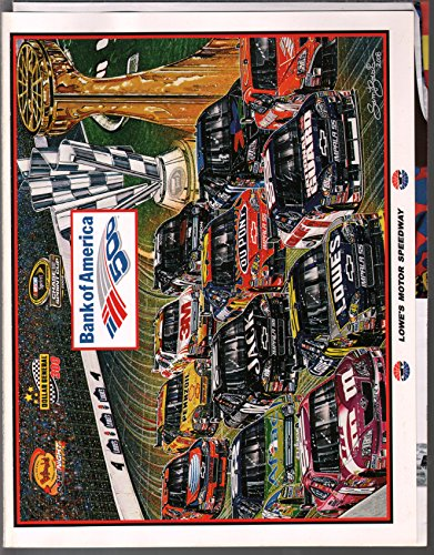 (Lowe's Motor Speedway NASCAR Race Program 10/2008-Sam Bass-VF)