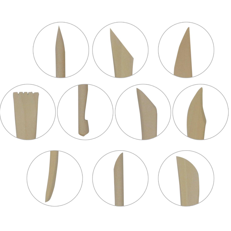 in Legno TRIXES Confezione da 10 Utensili per la Scultura Modellazione Della Creta