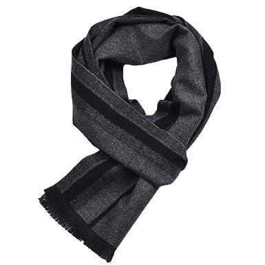 Black And White Stripe Long Scarf Stripe Wrap Scarf Soft Cotton Stripe Shawl.