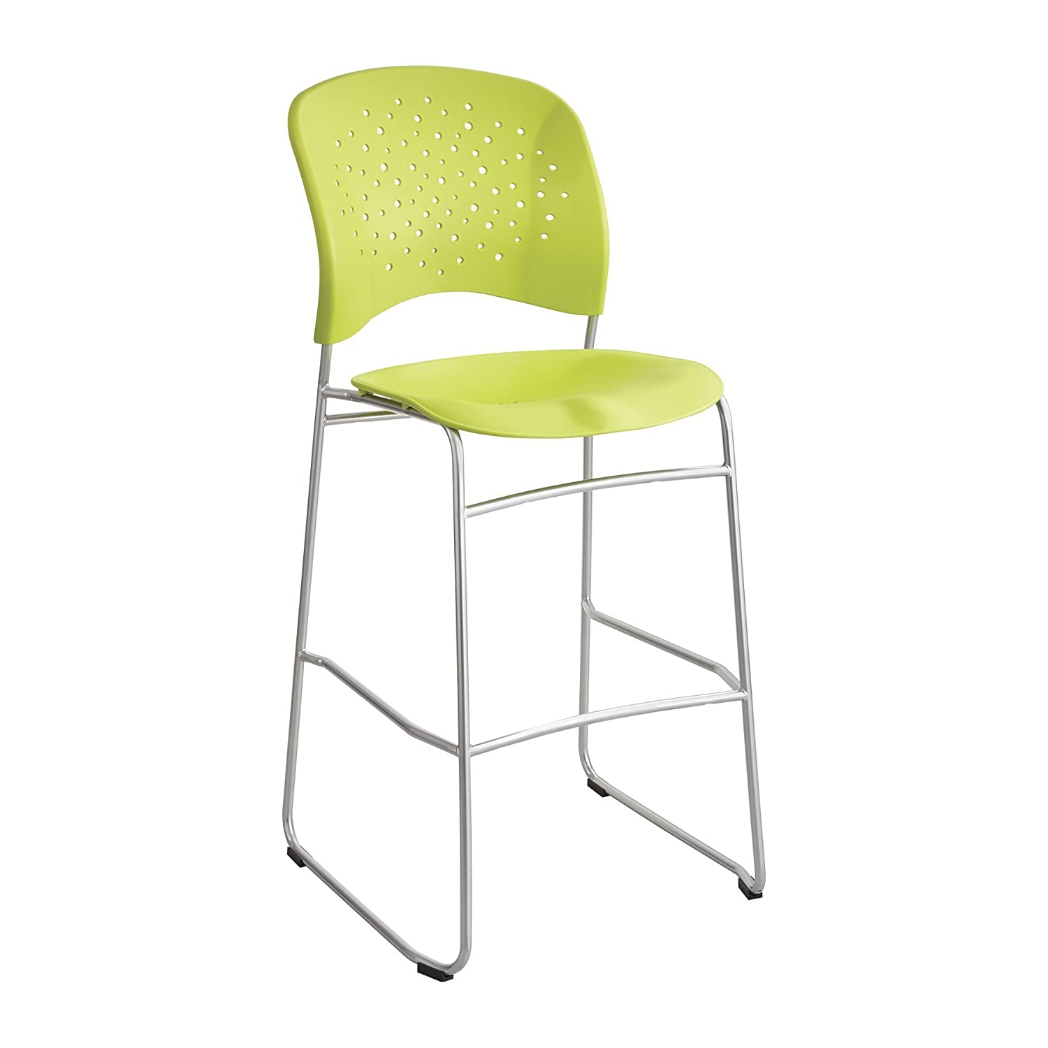 Safco Products Reve Bistro Height Chair with Round Back, Grass