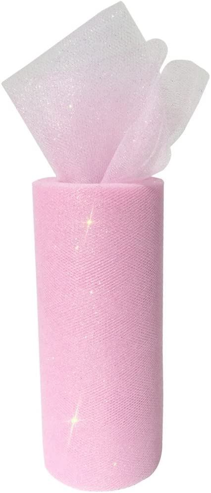 3pcs, Color: Aquamarine Just Artifacts Glitter Tulle Fabric Roll 25-Yards Length x 6-Inch Width