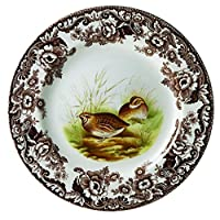 Plato de comida de codorniz Spode Woodland