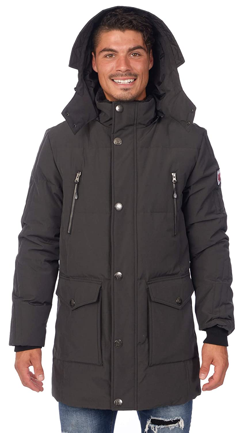 Polar Glacier Men's Hooded Premium Down Parka