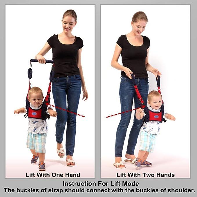 Baby Walking Harness Walking Assistant Belt Adjustable Handheld Kids Walker Helper for 6-24 Month Infant Toddlers