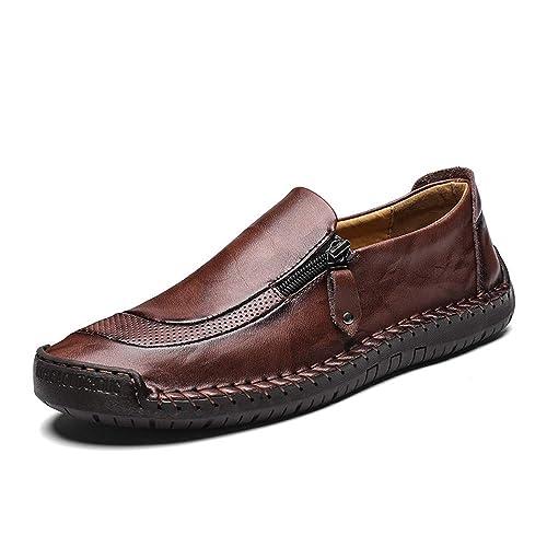 Mocasines Hombre Cuero Vestir Derby Brogue Casual Mocasín Calzado Zapatos De Trabajo Boda Comodos Verano Primavera Negro Marrón Caqui 38-48: Amazon.es: ...