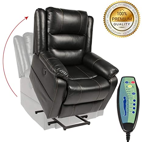 Terrific Piedle Electric Power Lift Recliner Chair Recliners For Elderly Home Sofa Chairs With Heat Massage Remote Control 3 Positions 2 Side Pockets And Theyellowbook Wood Chair Design Ideas Theyellowbookinfo
