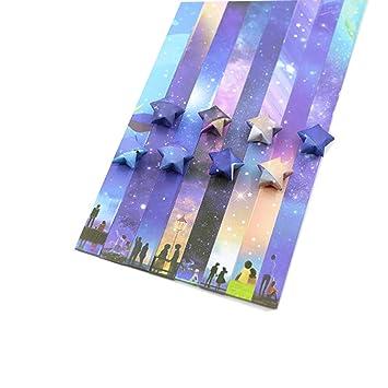 1632 hojas de papel de origami, diseño de luna, cielo ...
