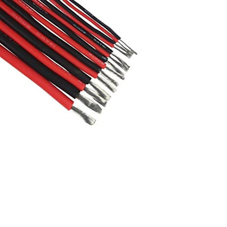 22AWG 5 Meters Lots200 Degrees Celsius High Temperature Resistant Red Silicone Wire