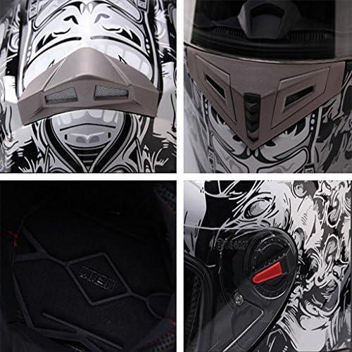 安全装置 ヘルメット - 男性と女性のオートバイの機関車レースヘルメット防曇4シーズンユニバーサル夏フルフェイスヘルメットフルフェイスオートバイ 個人用保護具 (サイズ さいず : Xl xl)