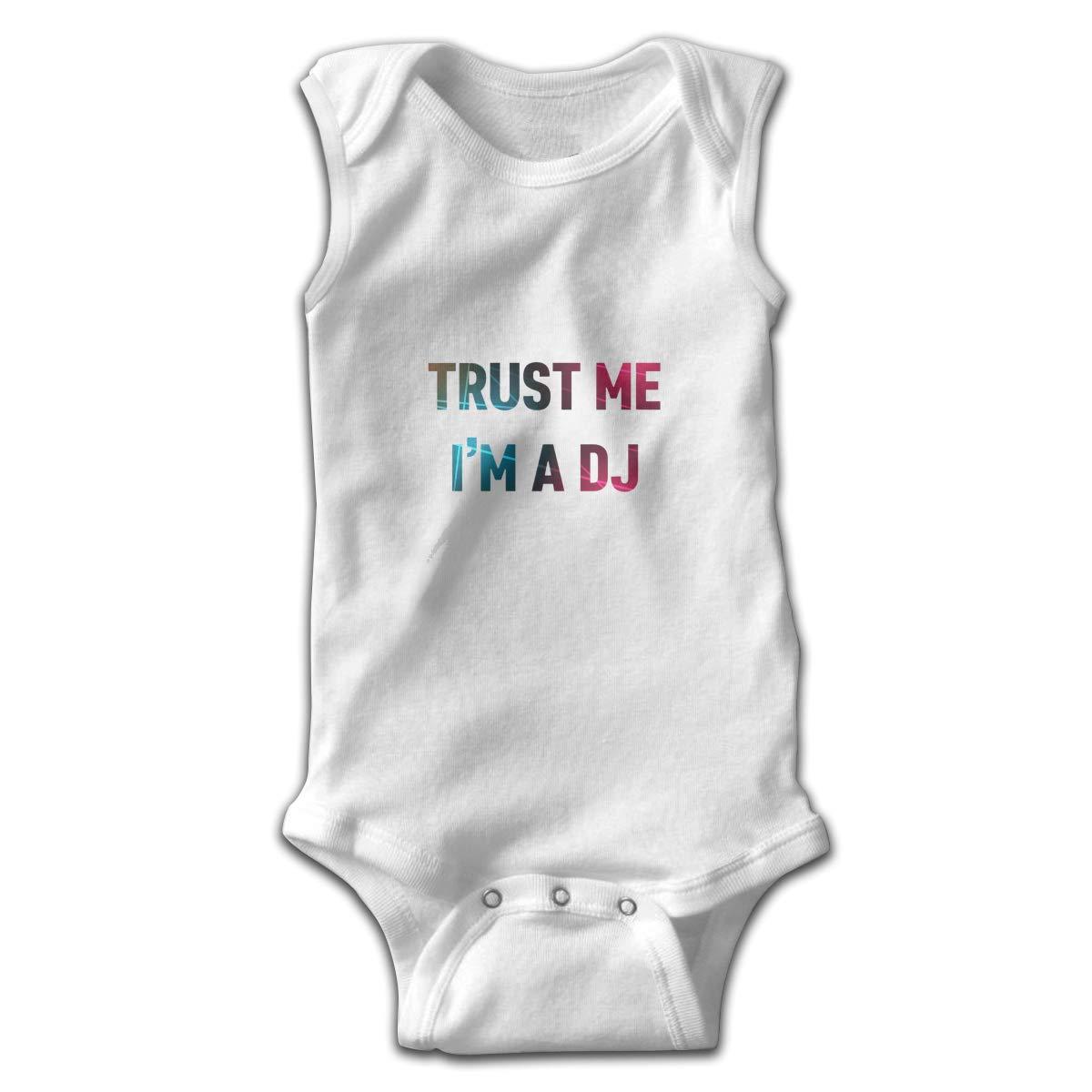 Trust Me Im The DJ Smalls Baby Onesie,Infant Bodysuit Black