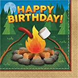 Camping Birthday Napkins, 48 Count