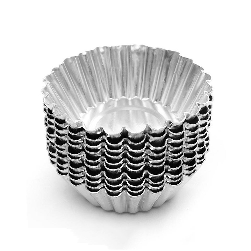 Dealglad 20pcs Egg Tart Aluminum Cupcake Cake Cookie Mold Lined Mould Tin Baking Tool