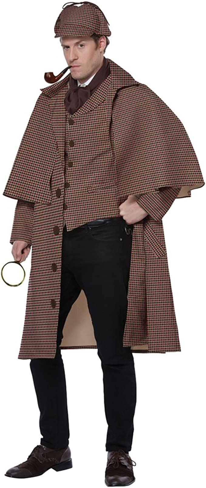 Victorian Men's Costumes: Mad Hatter, Rhet Butler, Willy Wonka California Costumes Mens English Detective/Sherlock Holmes Costume $69.99 AT vintagedancer.com