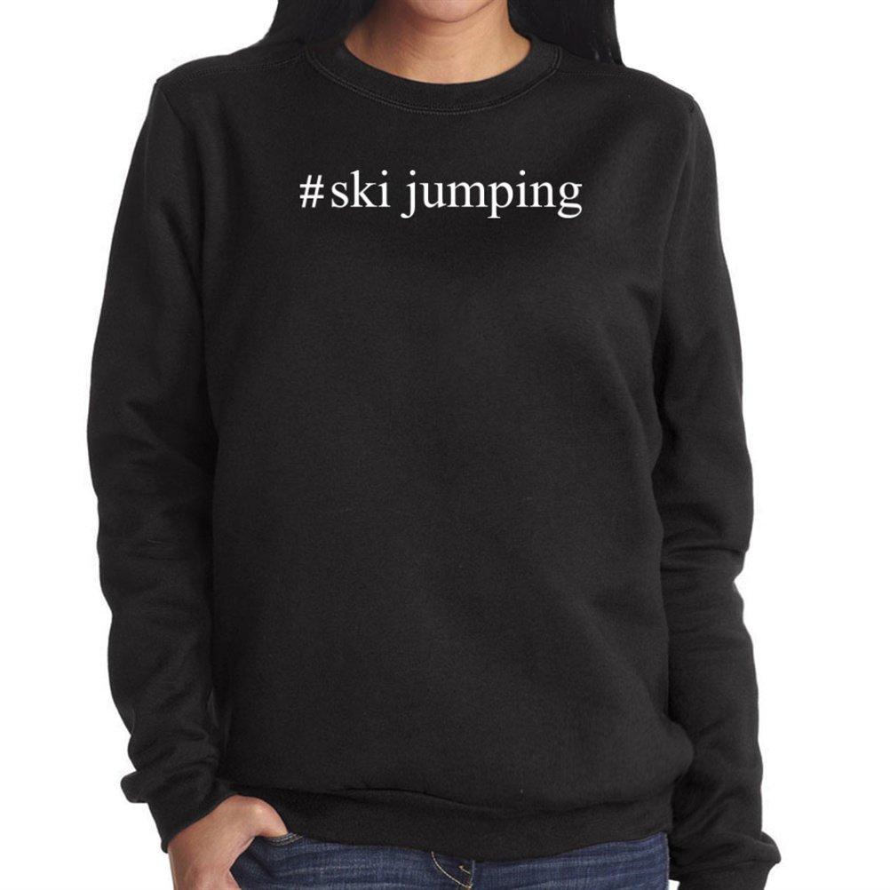 #Ski Jumping Hashtag Damen Sweatshirt