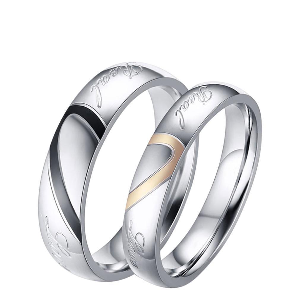 Lovers Rings,Hemlock Women Men Wedding Rings Valentine's Rings Gifts Rings Friend Rings (10, Women)