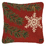 Chandler 4 Corners Christmas Ornament Flake 18'' Pillow