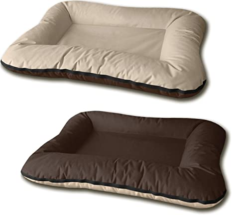 BedDog® 2 en 1 Vera Beige/Marron XXL Aprox. 120x90cm colchón para ...