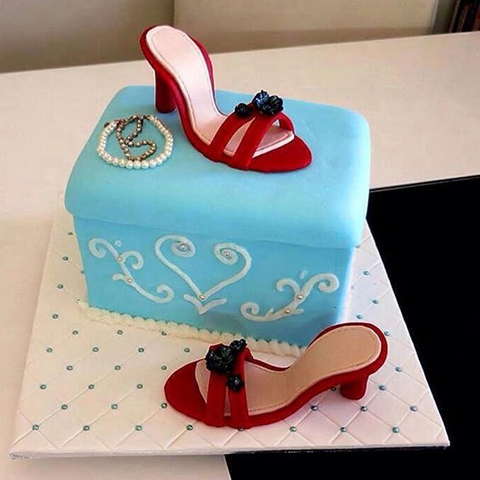 9pcs Plastic High Heeled Shoes Cake Cutter Fondant Gumpaste Cake