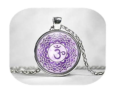 Collar de meditación de Chakra púrpura de Sirena de mar ...