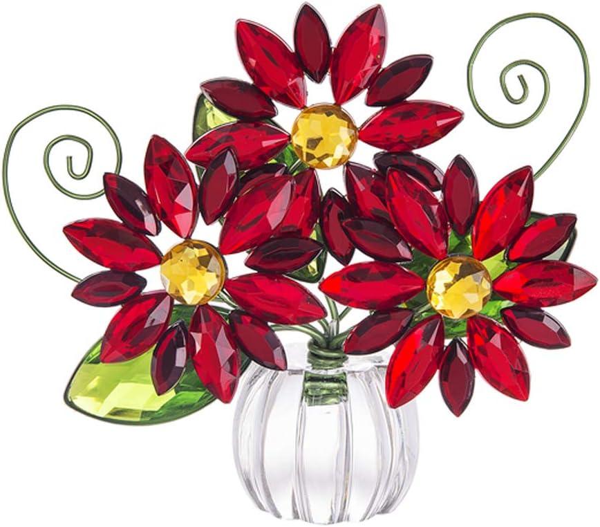 Ganz Poinsettia Acrylic Posy Pot Home Decor