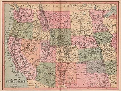 Amazon.com: USA WEST. Oklahoma shown as