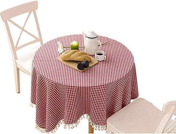 Mantel de algodón y Lino Mantel Redondo Mantel Rectangular Mantel Cuadrado Mantel Mantel de Moda Mantel: Amazon.es: Hogar