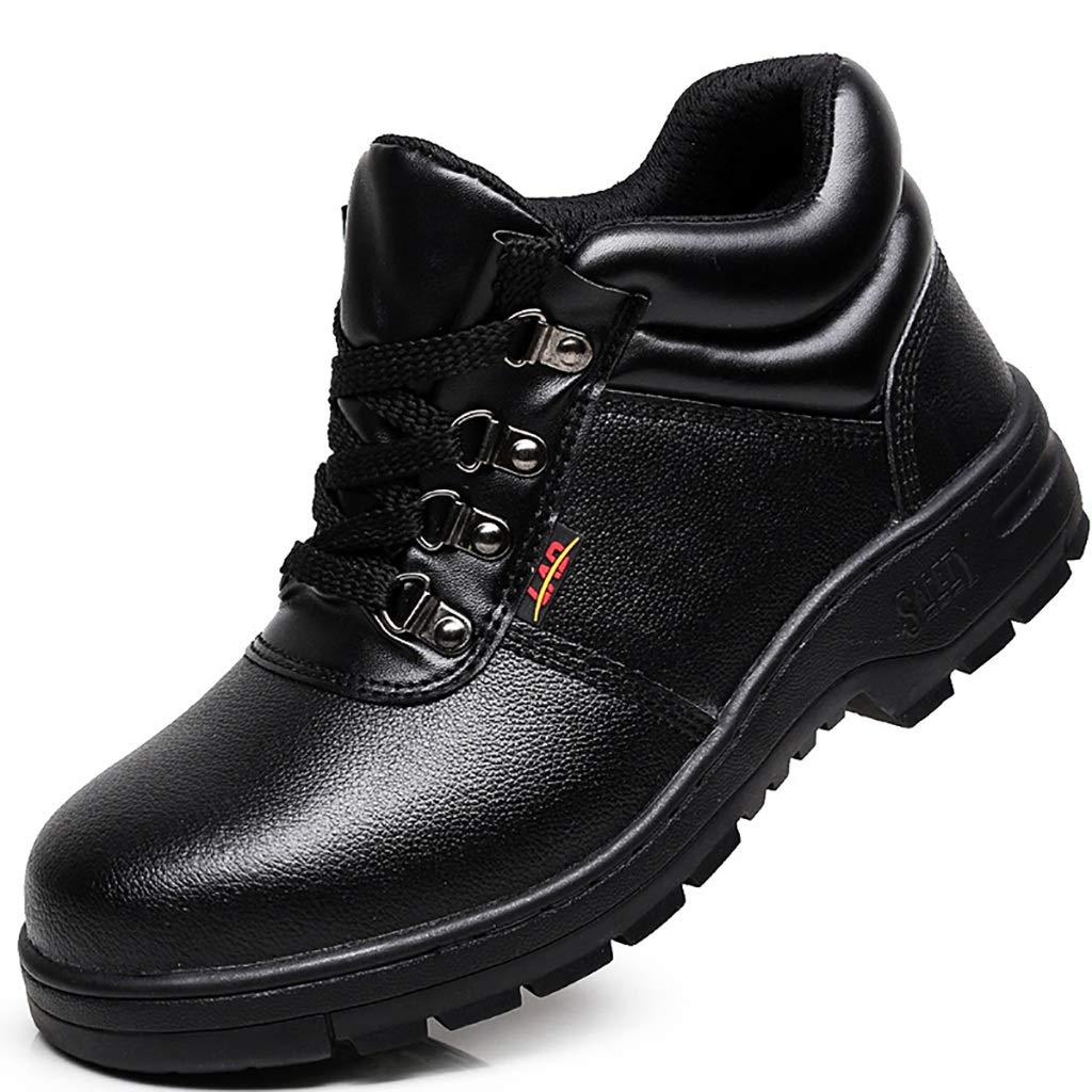 XBXZ Sicherheitsschuhe Bergsteigen-Anti-Abnutzung beschuht Arbeitsversicherungs-Schuhe Stahlkopf-Gummisohlen-Beleg-Verschleißfestigkeit Arbeitsschuhe (Farbe : A, größe : 44)