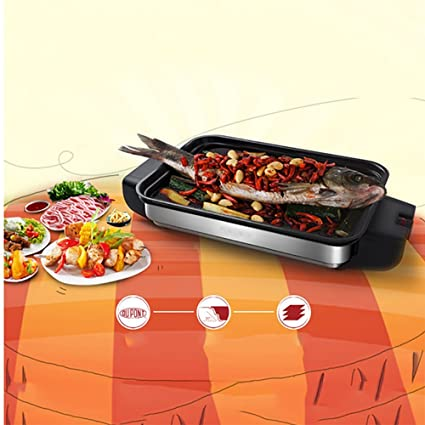 BBQ Grill Household Electric Grill Smokeless Indoor Bakeware Lamb Skewer Barbacoa Comercial - (1100W)