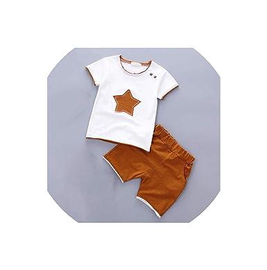 c454edbb720c Skirt 2Pcs Suit Boy Clothes Children Summer Toddler Boys Clothing Set ,Brown,3T