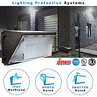 LED Wall Pack Security Light Fixture with optional dusk to dawn photocell