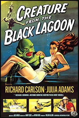 Creature from the Black Lagoon  FILM MOVIE METAL TIN SIGN POSTER WALL PLAQUE