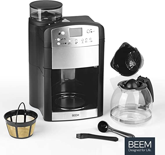 BEEM Fresh-Aroma-Perfect Thermolux | Cafetera con molinillo para ...