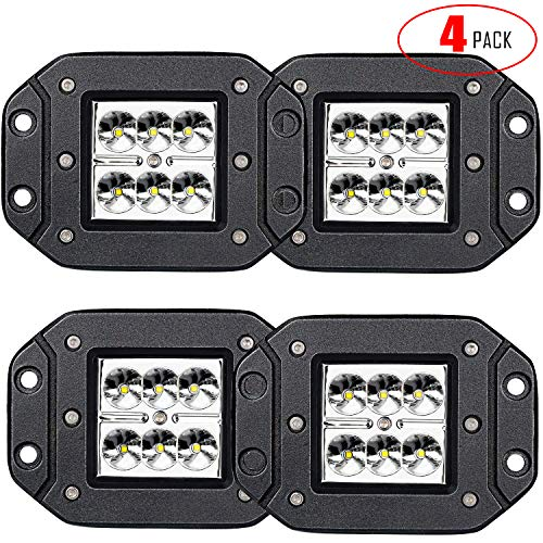 2018 Ford Fusion Bumper - LED Light Bar TURBOSII 4Pcs 3x3 4.5inch Flush Mount Led Lights Pods Spot Beam Offroad Led Work Lights Bar Driving Fog Lights Boat Light For Pickup Jeep Truck Tacoma Bumper Lights 12V 24V