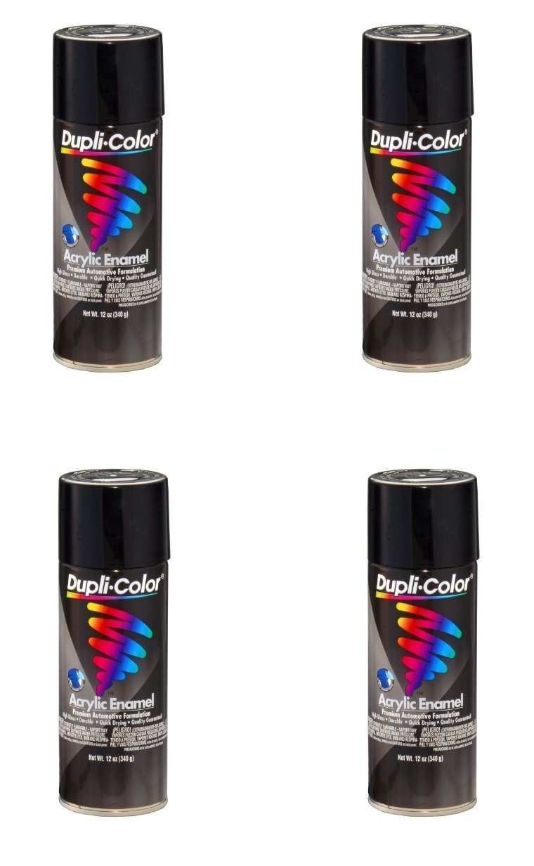 VHT DA1600 Premium Enamel Gloss Black (OSHA Black) Aerosol Can 12 Ounce (4)