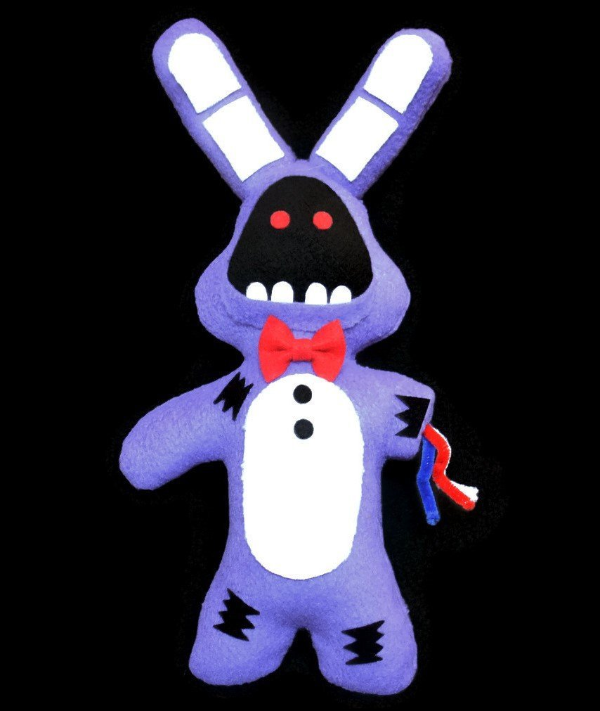 """Broken/ Withered Bonnie ~Handmade Plush~ Five Nights at Freddys inspired 13"""" inch"""